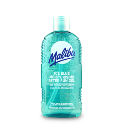 Malibu After Sun Gel Ice Blue Pump 200ml Cooling Soothing